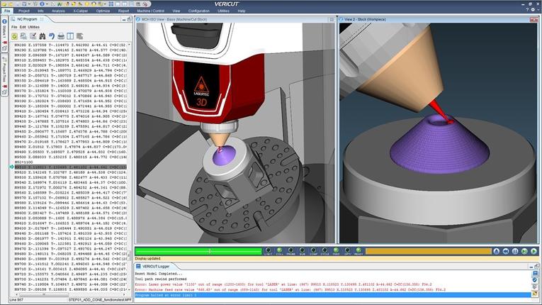 CGTech 切削最適化ソフトの最新版<br>積層エラーひと目で