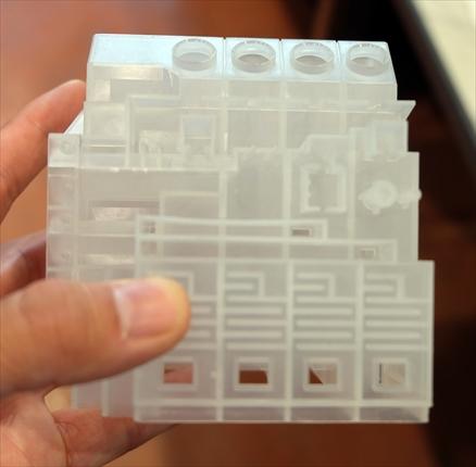 3Dプリンタの型で成形したワーク