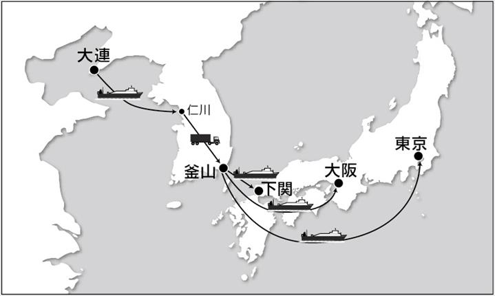 大運、大連から高速混載サービス<br>輸送リードタイム削減