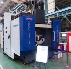 三井精機工業 新型5軸MCを初披露<br>大物加工に対応